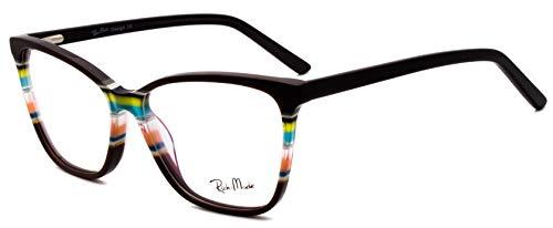 RICH MODE Oversize Multicolor Eyeglasses Non-prescription Optical Frame for Women & Girls (Grau)