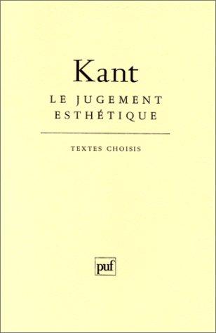 Le Jugement esthétique par Emmanuel Kant