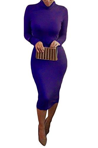 alaix-donne-matita-vestito-longuette-dolcevita-a-maniche-lunghe-slim-aderente-wrap-tunica-abito-blu-