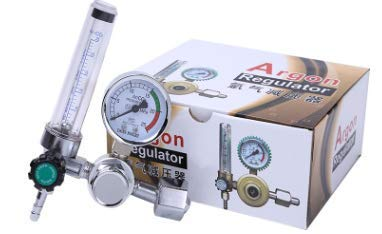 Akozon Argon Flow Meter, 0-25MPa Pressure Regulator Gauge for Weld Mig Tig  Welding