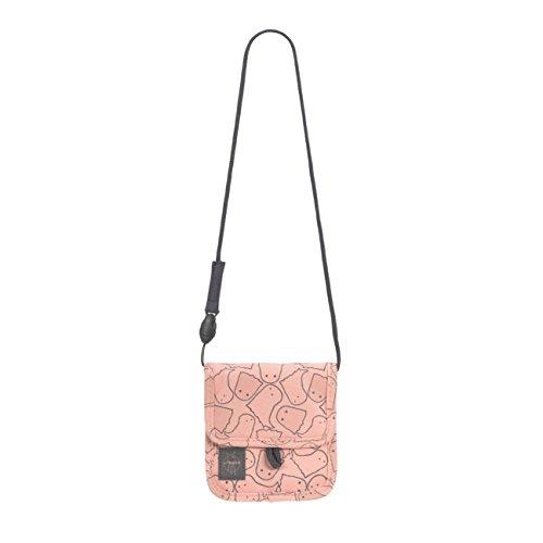 LÄSSIG Brustbeutel Junge Mädchen Brusttasche Umhängetasche Geldbeutel, Kordel mit Kindersicherung / Mini Neck Pouch, Spooky rosa