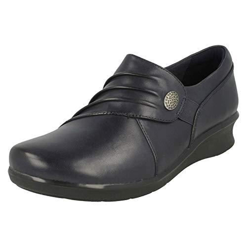 Clarks Hope Roxanne Womens Wide Fit Casual Shoes 8 D (M) UK/ 42 EU Marineblau