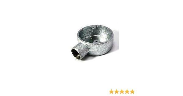 2 x 20mm Galvanised Conduit Angle Box 2 Way Metal