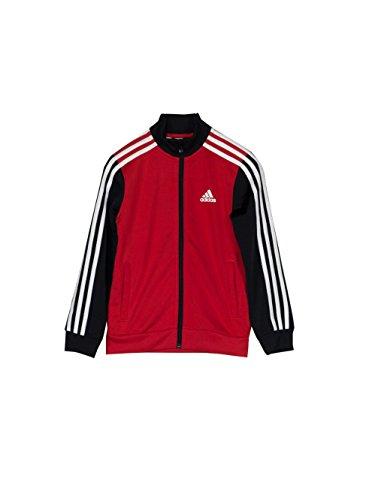 Adidas Herren Trainingsanzug Tibero TS CH, Kinder, Kinder, Tibero TS CH, Rot (Rot/Schwarz/Weiß)