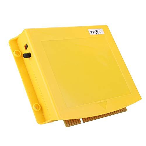 Hakeeta 5S 999 in 1 Arcade Spiel Leiterplatte, Retro DIY AVG Abenteuerspiel, Motherboard Box Cabinet, CPUA13 Dual Core, VGA Box(Gelb) - Dual Core Motherboard