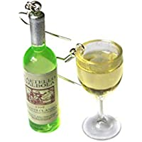 White Wine Glass and Bottle Earrings