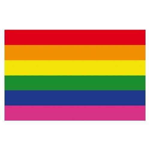 Gayrado Rainbow Regenbogen Magnet-Aufkleber 4,5 x 7 cm biegsam flexibel