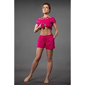 Millesime Kurze Hose Damen Pyjama Trousers Pyjama Hose Bottoms Pants Sexy Damen Shorts Sexy Hotpants Shorts Damen Pyjamahose Damen mit Taschen Hose Damen Nachtwäsche Hosen Große Größen