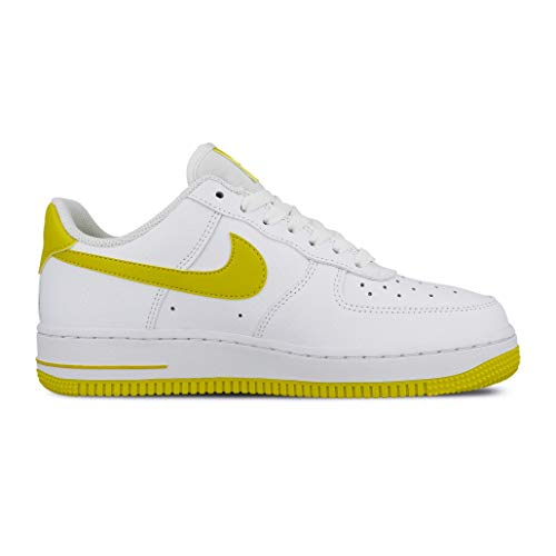 Nike Wmns Air Force 1 '07, Scarpe da Basket Donna, Multicolore (White/Bright Citron 000), 36.5 EU