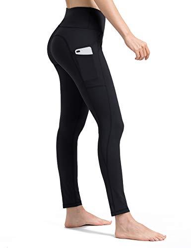 ALONG FIT Leggings Damen mit Taschen, Nicht durchsichtig Sporthose Damen Dehnbar Yogahosen für Damen