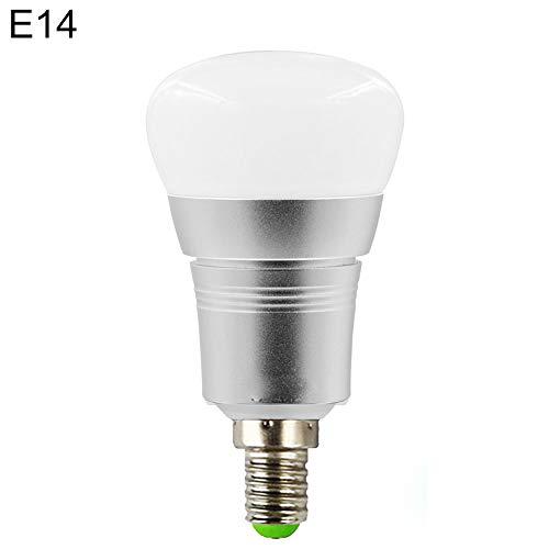 EffulxS - Bombilla WiFi E27/B22/E14/E26 7 W RGB WiFi inalámbrico App Mando a Distancia Smart LED Bombilla Funciona con Amazon Echo Alexa Google Home, 1, E14 7.0watts 265.0volts