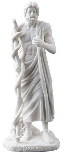 JFSM INC Asklepios Griechischen Gottes der Medizin Halten Asklepios Statue -
