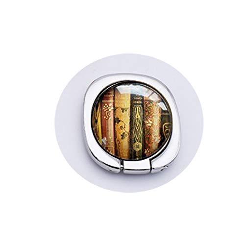 bab Buch Halskette, Bücherschmuck, libanischer Anhänger, Geschenk für Schriftsteller, Bibliophile, Buchliebhaber, Halskette, Handy, Handy-Zubehör, Ständer für Handy, Goldener Ringgriff, Sicherheit