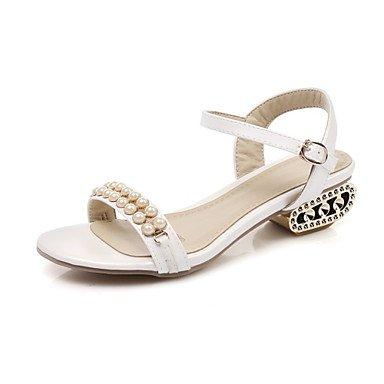 Sandales femmes chaussures printemps été Club Nouveauté Confort Glitter Supports personnalisés mariage robe de plein air en similicuir Talon occasionnels White