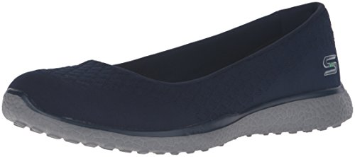 Skechers 23312 Microburst - One Up Women's Casual Shoes 40 Navy - Womens Casual Ballet Flat