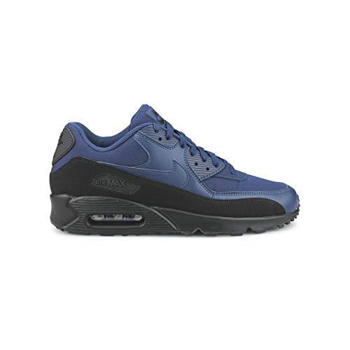 Nike Herren Air Max 90 Essential Sneakers, Mehrfarbig (Black/Midnight Navy 001), 42.5 EU