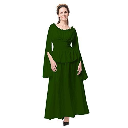 Kostüm Machen Rüstung - Lookhy Damen Langarm Mittelalter Kleid-Gothic Viktorianischen Königin Kostüm Mit Elegant,Jahrgang Prinzessin Renaissance Bodenlänge,Mehrfarbig