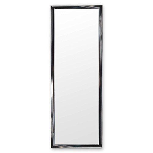 DRULINE Türspiegel Tür Spiegel Hängespiegel Rahmenspiegel SILBER Hochglanz 35x95cm (2 Stück) (Silber Tür)