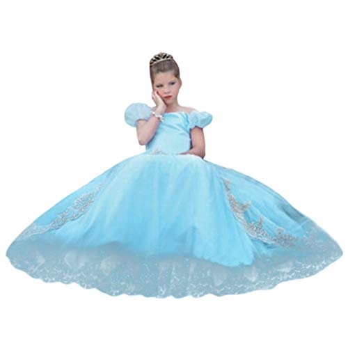 Kostüm Kinder Fairy Prinzessin - Baby Kleid Kinder Mädchen Elegant Party Outfit Kostüm Prinzessin Cosplay Fairy Dress Mädchen Outfit Heligen Mädchen Prinzessin Brautjungfer Festzug Tutu Tüll-Kleid Party Hochzeit Kleid