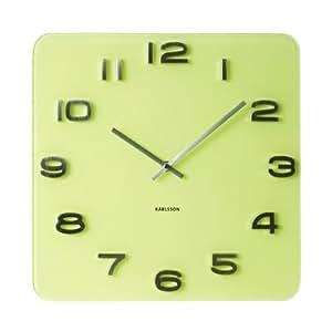 Karlsson Vintage Glass Wall Clock, Yellow