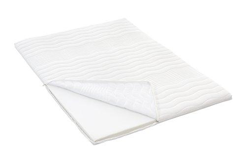 Möbelfreude PU-Schaum Topper 180 x 200 cm für Boxspringbetten und Matratzen | Gesamthöhe: 6 cm | Matratzenauflage für unbequeme Betten und Doppelbetten | Schlafen wie auf Wolken