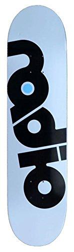 Radio Skateboards Skateboard Deck OG Logo weiss (white) inkl. Griptape 8,0