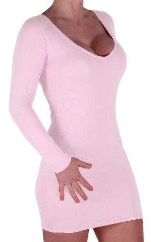Eyecatch - Rachel Damen Mit V-Ausschnitt, Figurbetontes Stretch Short Frauen Minikleid Cream
