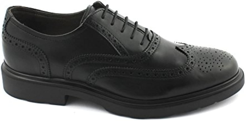 Nero Giardini Black Gardens 05283 Schwarze Kleid der Männer Schuhe Britische Leder Derby