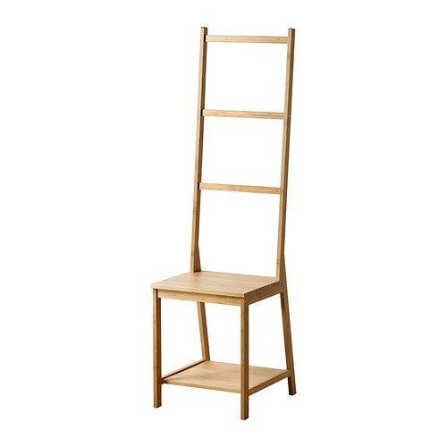 IKEA RAGRUND Stuhl mit Handtuchhalter aus Bambus