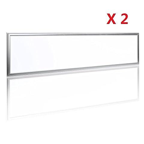 Lot de 2 × Auralum® Dalles LED 30X120CM 54W Plafonnier
