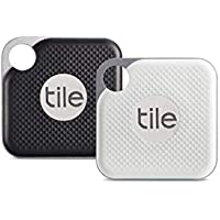 Tile Pro with Replaceable Battery - Black/White, Pack of 2 (1 x Black, 1 x White)
