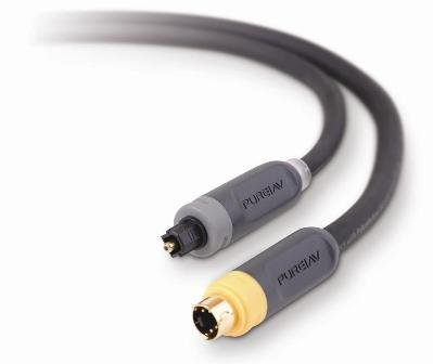 Belkin PueAV S-Video und Digitaler Optischer Audiokabelsatz aus der Blue-Serie 1,8 m Digital Optical-kabel-kit