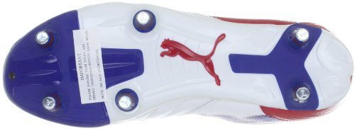 Puma Powercat 3.12 Sg, chaussures de sport - football homme Blanc - Weiss (white-ribbon red-limoges 03)