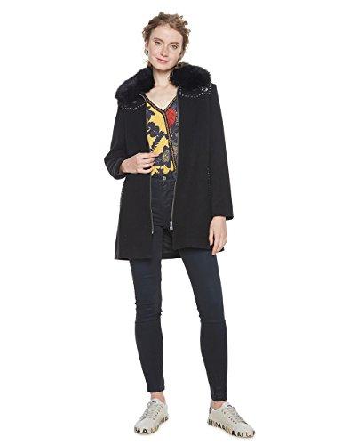 Desigual Damen Mantel ABRIG_COLLIN, Schwarz (Negro 2000), 36 DE (Herstellergröße: 38) (Desigual Mäntel Damen)