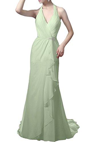 Royaldress Hell Gruen Elegant Vausschnitt Neckholder Abendkleider ...