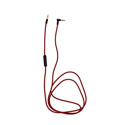 Creative-Idea 3.5mm Casque Câble Audio Micro Contrôle Parlé L Corde Remplace pour Beat Dr Dre Aux Écouteur