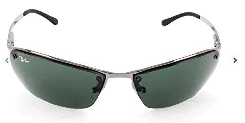 Ray-Ban Unisex Sonnenbrille Top Bar Grau (Gestell: gunmetal, Gläserfarbe: grün klassisch 004/71) Large (Herstellergröße: 63)