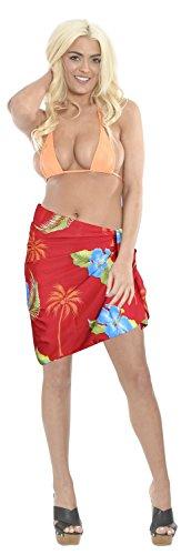 traje-de-bao-de-la-falda-de-hibisco-vacaciones-en-la-playa-del-bikini-mitad-pareo-abrigo-de-la-bufanda-de-las-mujeres-de-color-rojo