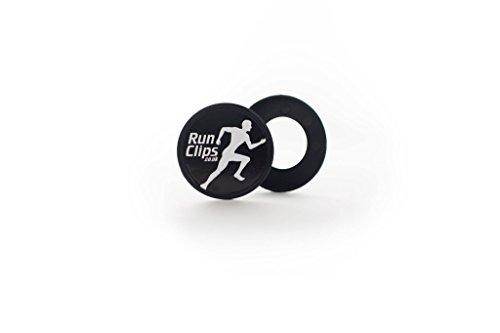 Clips zum Befestigen der Startnummer von Runclips, schwarz