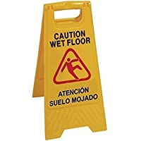 Señal alta visibilidad de pavimento mojado
