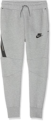Nike Jungen B NSW TCH FLC Pant Sport Trousers, dk Grey Heather/Black/(Black), S