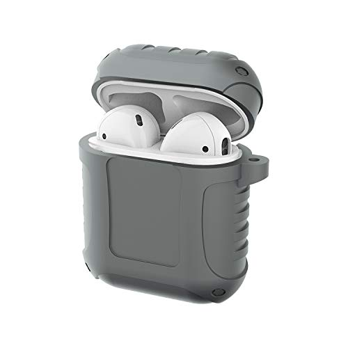 GHC USB Cables, für AirPods, 5th. Generation Armor Protection Anti-Fall-Wasserdichtes Spritzen Perfekte Passform Silikonhülle (Farbe : Grau)