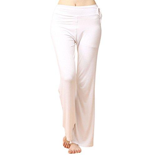 Nanxson(TM) Pantalon Femmes En Modal Confortable Pour Yoga Sport Fitness YDKW0025 Blanc