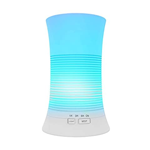 Tenswall Essential Oil Diffuser 200ML Ultrasonic Aromatherapy Cool Mist Humidifier with Multi-colour Changing LED Light Perfect for Home, Office, Beauty Salon, SPA, Baby Room, Conference Room, Etc