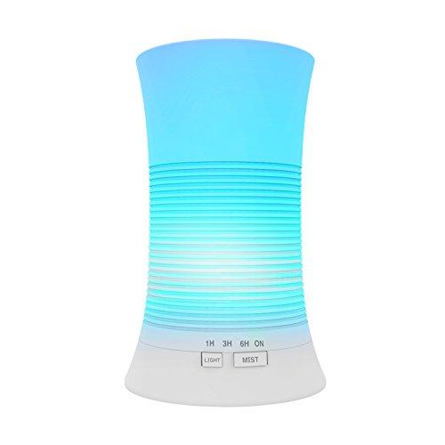 Tenswall®,Diffusore Atomizzatore di essenze e aromi ad Ultrasuoni, Umidificatore con 7 colori...