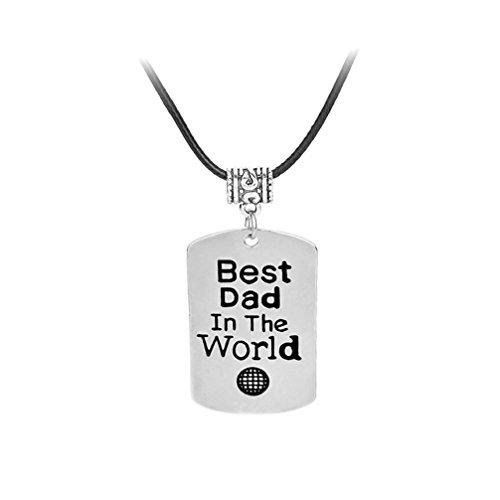 Toporchid Best Dad in The World Anhänger Halskette Vater 's Day Geschenk für Papa