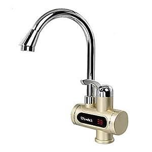 bobo digitale elektrische Warmwasserbereiter Kaltwasserhahn heißen Mehrzweck-Display Gold