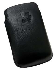Original Suncase Echt Ledertasche für Sony Ericsson Xperia X10 mini Pro schwarz