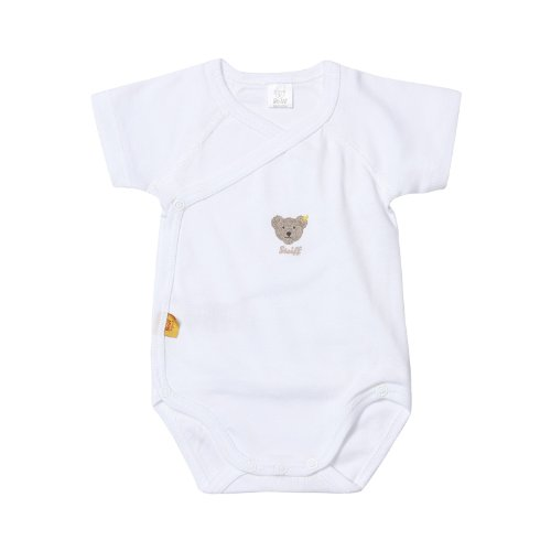 Steiff Unisex - Baby Body 0008512 1/4 Arm, Weiß (Bright White), 50
