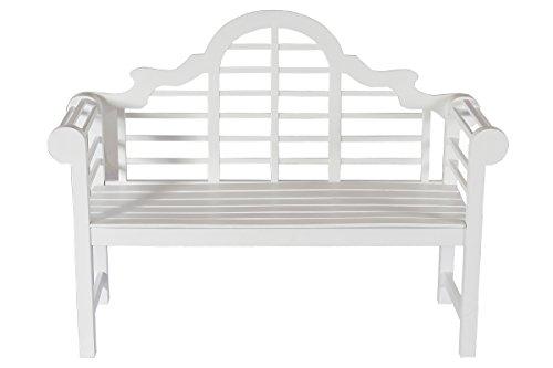Villana Gartenbank, Holz, weiß, 180 x 90 x 84 cm - 3